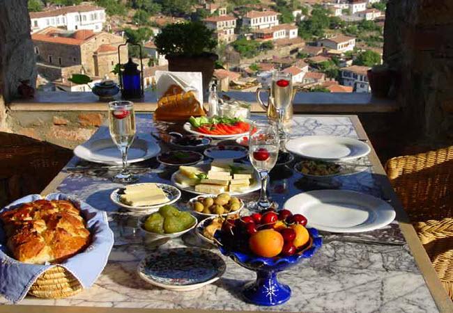 Epic breakfast of Nisanyan Hotel in Şirince