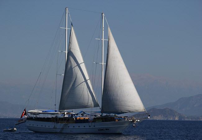 Full sail in Fethiye Bay